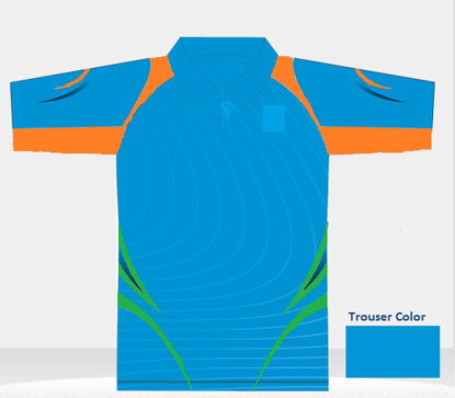 Picture of Custom T20 Color Team Uniform Shirt/Trousers set