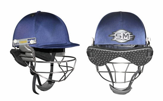 Picture of SM Cricket Helmet PLAY ON - Titanium Grill - Navy
