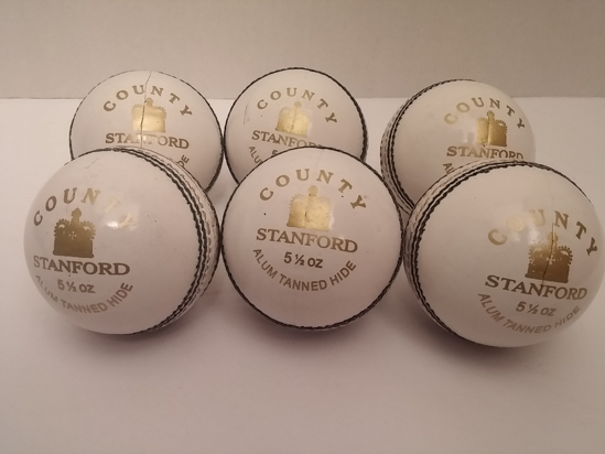 Picture of SF Cricket Ball County White (Box of 6)