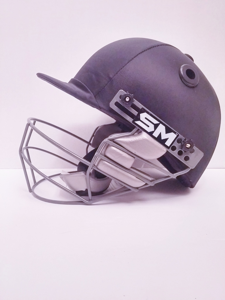Picture of SM Cricket Helmet COLLIDE - Black - Youth